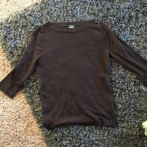 Ladies J.Crew black sweater sz S with 3/4 sleeves
